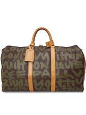 AUTH LOUIS VUITTON KEEPALL 50 TRAVEL HAND BAG MONOGRAM GRAFFITI M92196