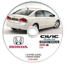 Honda Civic Hybrid (MY 2006-->) manuale officina workshop manual