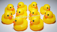 10 PC BABY SHOWER FAVORS RUBBER DUCKS RECUERDOS PARTY FAVORS YELLOW  TABLE DECOR