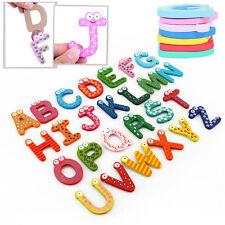 26pcs/set Letters A-Z Kids Wooden Alphabet Fridge Magnet Child Educational Toy