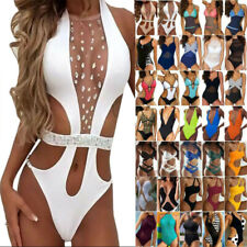 Damen Push Up Monokini Einteiliger Badeanzug Bademode Sommer Strand Schwimmanzug