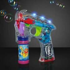 Light Up LED Bubble Gun with 2 Bottles of Bubbles and Batteries