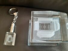 3D Crystal stadium & 3D Keychain from Aston Villa in Birmingham the Villa Park.