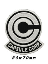 Dragon Ball Z Capsule Corp WHITE Embroidered IRON ON Patch A1221