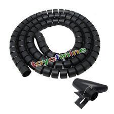 2.5M espiral Gestión del cable de alambre del organizador del abrigo con el clip