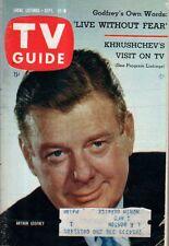 1959 TV Guide September 12  Gunsmoke;Paul Winchell, Jerry Mahoney;Carol Lawrence