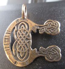 Small Bronze Celtic MONOGRAM Pendant INITIAL C from Book of Kells Brand NEW!