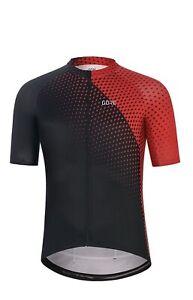 GORE WEAR Flash Jersey Trikot in schwarz/rot Gr.L Neu