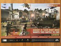 Battlefield 2: Modern Combat PS2 Xbox PC 2005 Vintage Poster Ad Art Print Rare