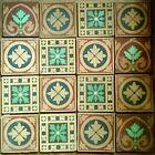 16 (+1) Original MINTON design Encaustic floor tiles Art Crafts medieval quarry