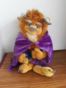 """Disney Store Beauty and The Beast 15"""" Plush Stuffed  Toy Disney Prince Vintage"""