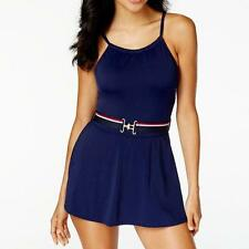 NWT NEW Tommy Hilfiger Core Navy Belted Swimdress One Piece Swimsuit 10 ap12