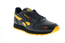 Reebok Classic Leather MU FW2266 Mens Black Lace Up Lifestyle Sneakers Shoes