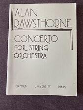 Alan Rawathorne Concerto For String Orchestra Full Score