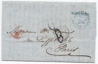 # 1852 NEWCASTLE ON TYNE & QUAYSIDE SUB PO ARTHUR PRING TO H WORMS PARIS LETTER