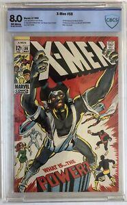 Marvel X-Men #56 (1969) CBCS 8.0 1st Living Monolith & Neal Adams X-Men Artwork