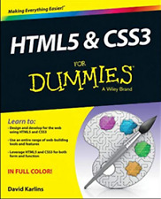 Book - HTML5 and CSS3 For Dummies, Designing Website, Computers, Computing