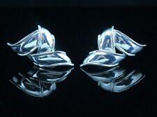 Tiffany & Co. Sterling Silver Three Ribbon Earrings LARGE