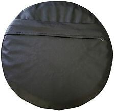 ukscooters LAMBRETTA VESPA POCKET SPARE WHEEL COVER 10 INCH WHEELS BLACK