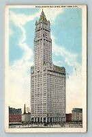 New York City NY, Woolworth Building, Vintage New York c1916 Postcard