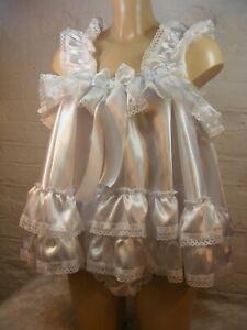 sissy ADULT baby dress satin baby doll negligee nightie fancy dress maid lolita