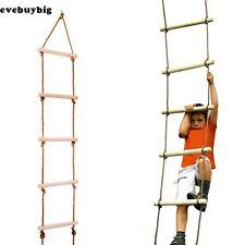 ROPE LADDER WOODEN For Kids 5-RUNGS 6 FT Swing Seat Set Accessories Outdoor EG