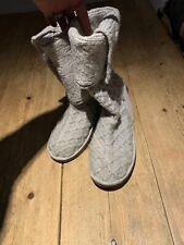 Inmaculada Ugg Australia Gris Claro Botas de piel de oveja de piel de oveja Cardy Tejido, 6.5