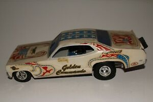 Chris Lang Golden Commando 1970's Plymouth Duster Funny Car Original 1/24 Scale