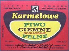 Poland Brewery Lublin Karmelowe Beer Label Bieretikett Etiqueta Cerveza lu49.1