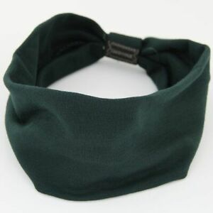 HANDMADE COTTON 3 INCH HEADBAND GATHERED IN BACK, STRETCHY, COMFY, SOLID COLORS