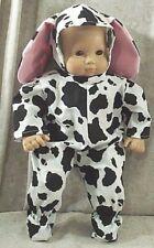 "Doll Clothes HandMade4 American Girl 15"" Bitty Baby Boy Halloween Costume Cow"