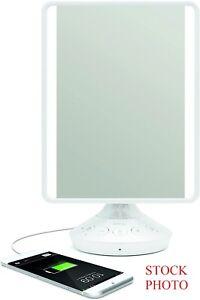 iHome Adjustable Vanity Mirror w/ Bluetooth Audio Model: iCVBT2 Mirror Size 7X9