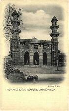 India India PC per 1900 Ahmedabad muhafiz Khan MOSQUE MOSCHEA VINTAGE POSTCARD