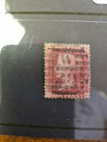 1d red perfin C and B Soho  plate 140 A53