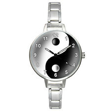 Ying Yang Tao Symbol Stainless Steel Italian Charm Strap Mens Ladies Watch BM876