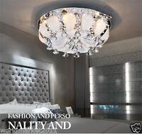Simple Modern Crystal Ceiling Lamp 7*Bulbs D50CM * H24CM Decorative Chandelier