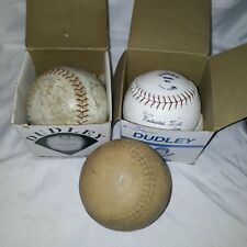 Lot Of Three Softballs One Vintage One Dudley One Unmarked and Two Dudley boxes
