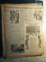 Baseball Babe Ruth Newspaper History BIG 4 OF YANKS + WORLD SERIES REPORT AD DC