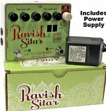 Electro Harmonix Ravish Sitar Simulator Guitar Effects Pedal w/ Power Supply