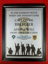 """Mc-Nice: Army """"When the Demons Come"""" All Units Framed Personalized"""