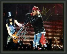 Slash & Axl Rose - Guns N Roses  A4 SIGNED AUTOGRAPHED PHOTO POSTER  FREE POST