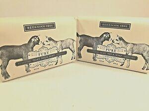 Beekman 1802 Pure Goat Milk Soap Fragrance Free 9 oz  Lot of 2 Y8