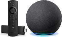 Amazon Fire TV Stick 4K with Alexa Voice Remote and Echo Dot 4th Gen Black