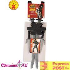 Dragon Ninja Weapon Set Backpack X Back Sword Sai Costume Martial Arts Accessory