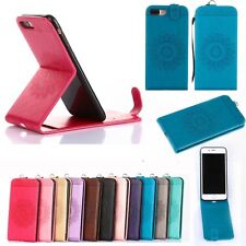 Fashion Magnetic Leather Card Holder Stand Vertical Flip Case Cover For iPhone