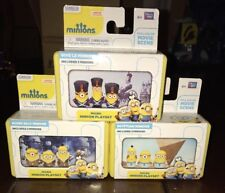 3 MINIONS MICRO PLAY SETS Despicable Mini BUNDLE Vive Le, Egyptian, Bored Silly