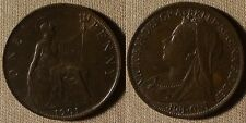 Great Britain : 1901  1 Pence AU Some Field Scrs  #790   IR2545
