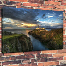 """Donegal  Lighthouse Ireland Printed Canvas Picture A1.30""""x20""""30mm Deep Wall Art"""