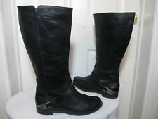 UGG AUSTRALIA CHANNING II 1001637 BLACK LEATHER KNEE HIGH RIDING BOOTS SZ US 12