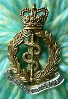 Royal Army Medical Corps Cap Badge QC Bi-Metal maker GAUNT ANTIQUE